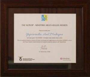 Hellen Keller Award
